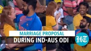 Watch: Indian supporter proposes to girl during India Vs Australia 2nd ODI