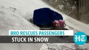 Watch: BRO rescues passengers stuck in snow due to avalanche at Zojila Pass