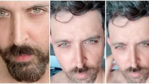 Hrithik Roshan shared a before and after shave pictures over two successive days.