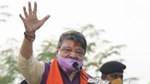 BJP National General Secretary Kailash Vijayvargiya alleged that police is working with TMC cadres which has led to collapse of law and order in Bengal.(PTI)