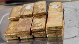 Gold bars seized from Delhi bound long distance trains arriving at the Patna railway junction.(Sourced Photo)