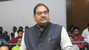 """Abhay Singh Chautala said his party had announced its support to the protesting farmers the day the agitation started, adding that """"each and every worker of the INLD will fight this battle shoulder-to-shoulder to strengthen this movement so that the Centre is forced to abolish the three black laws imposed on the peasants.""""(Keshav Singh/HT)"""