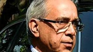 Ram Mandir construction committee chairman Nripendra Misra.(File photo)