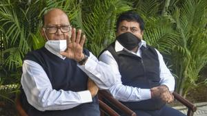 Nationalist Congress Party (NCP) chief Sharad Pawar said the opposition leaders will meet to discuss the issue and formulate a collective stand on the contentious farm laws before meeting the President at 5 pm.(PTI)