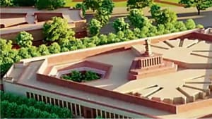 An illustration of the proposed new Parliament complex under the Central Vista project