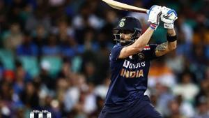 Photo of Indain captain Virat Kohli playing a shot during 2nd ODI against Australia in Sydney(Twitter)