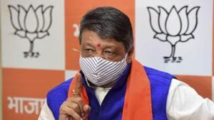 """BJP national general secretary and state in-charge Kailash Vijayvargiya alleged that a """"nexus of police and Trinamool Congress (TMC) goons"""" was behind the death of party worker Ulen Roy.(PTI file photo)"""