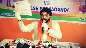 BJP leader Babul Supriyo. (Photo @BJPAsansolOff)