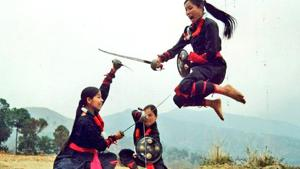 According to Indira Gandhi National Centre for the Arts, Manipuri martial art is called Thang-Ta (sword and spear). It is dedicated to fighting skill and worship. (Photo@KirenRijiju)