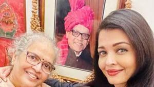 Aishwarya Rai Bachchan with her mother and father, late Krishnaraj Rai.