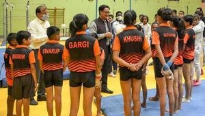 Sports Minister Kiren Rijiju at the inauguration of various Infrastructural Facilities at SAI Centre, Aurangabad(@KirenRijiju/Twitter)