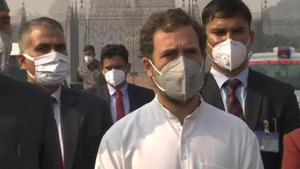 Rahul Gandhi on Thursday said the government should call a joint session of Parliament to repeal the farm laws. (ANI)