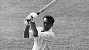 British cricketer John Edrich in action against Worcestershire during Surrey's second innings at the Kennington Oval, London.(Getty Images)