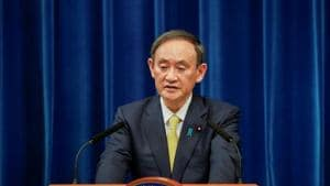 Japanese Prime Minister Yoshihide Suga speaks during a news conference in Tokyo, Japan.(Reuters)