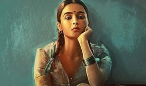 Alia Bhatt in and as Gangubai Kathiawadi.