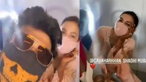 Gauahar Khan met Kushal Tandon on a flight.