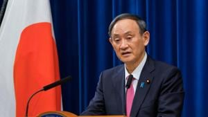 Japanese Prime Minister Yoshihide Suga on Monday asked his ministers to remain ready to implement measures to prevent the further spread of coronavirus infections(REUTERS)