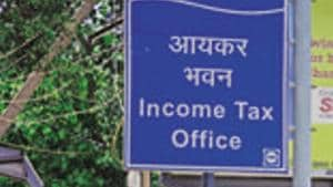 The income tax office is seen in this file photo in Delhi.(Pradeep Gaur/ Mint Photo)
