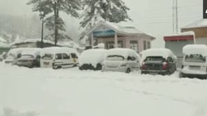 Many areas in the higher reaches of Jammu and Kashmir received fresh snowfall(ANI image)