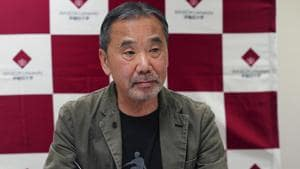 Japanese novelist Haruki Murakami said politicians need to reduce public uncertainty and fear over the coronavirus by speaking sincerely about the pandemic.(AP)