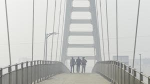 Weather department scientist says the improvement in air quality in Delhi will be visible from Saturday morning.(PTI)