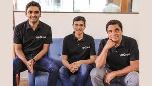 (L-R) Phalgun Kompalli, Mayank Kumar, and Ronnie Screwvala - Co-founders of upGrad.(upGrad)