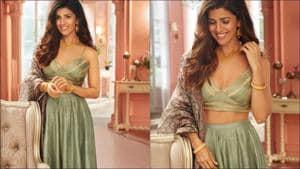 Nimrat Kaur looks breathtaking beautiful in Rs 45k mint silk Banarasi lehenga(Instagram/ekayabanaras/nimratofficial)