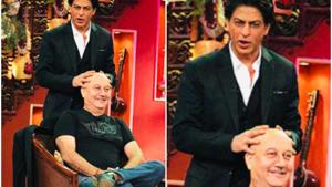 Anupam Kher and Shah Rukh Khan have worked in a number of films together.