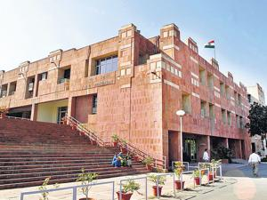 File photo of JNU administrative building.