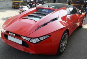 RTO officials seize unregistered sports car near Mumbai