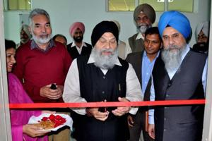 Vice-chancellor Dr Jaspal Singh inaugurating the newly established University Institute of Impact Assessment at the university on Wednesday.