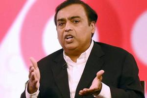 Mukesh Ambani, the chairman and managing director of Reliance Industries Limited, during an interactive session in Mumbai.