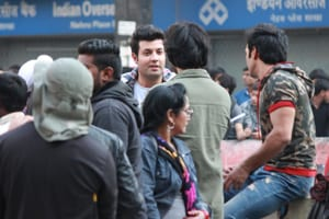 See pics: Fukrey gang spotted shooting the sequel in Delhi