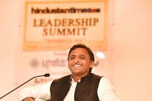 Uttar Pradesh chief minister Akhilesh Yadav at Hindustan Times Leadership Summit 2016.