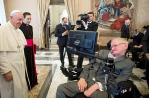 Physicist Stephen Hawking being treated at Rome hospital