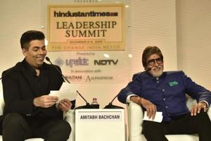 Amitabh Bachchan enthrals all with his ready wit and humour on HTLS...