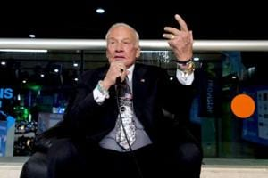 Moonwalker Buzz Aldrin stable after being evacuated from South Pole