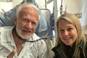 Former astronaut Buzz Aldrin recovering well after Antarctic...