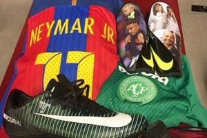 Neymar pays Chapecoense tribute ahead of Barcelona-Real Madrid Clasico...