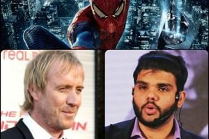 Rhys Ifans (left), who plays Dr Curtis Connors in The Amazing Spider-Man (2012); and Abhinav Verma, arrested in a fake-note racket, who was inspired by Marvel comics by his own admission. (Photos: HT/Facebook)