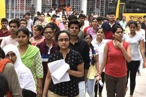 Students leave the campus of Guru Harkrishan Public school at Vasant Vihar after appearing for Neet 2, All India Pre Medical entrance exam, in New Delhi on July 24, 2016.