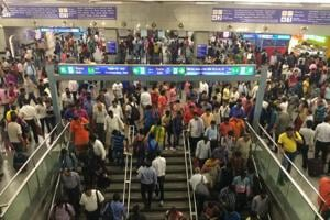 Four injured after escalator at metro station moves in reverse...