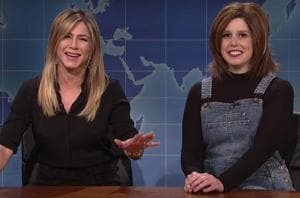 Jennifer Aniston paid a visit to SNL and made fun of Rachel