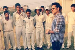 Virender Sehwag on Monday thanked his former batting mate and cricket legend Sachin Tendulkar for visiting the Sehwag International School in Haryana.