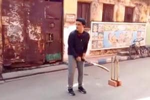 Watch Sourav Ganguly play gully cricket in a Kolkata street: Lofted...