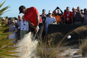 Tiger Woods upbeat after mixed show on return to golf at Hero World...