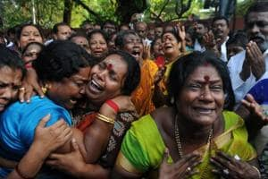 Anything for Amma: Emotions run high outside hospital