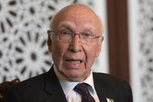 Ashraf Ghani's statement meant to please India, says Sartaj Aziz