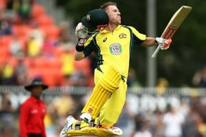 David Warner's ton helps Australia regain Chappell-Hadlee trophy vs...