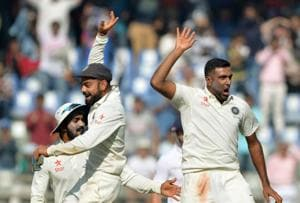 Mumbai Test: Ravichandran Ashwin takes four as India fight back...